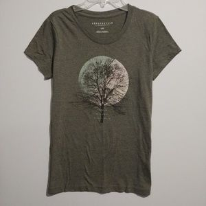 Olive Green Graphic Tee Shirt